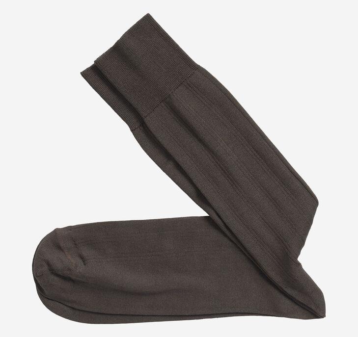 Pima Cotton Ribbed Socks