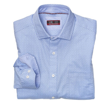XC4® Mini Dot Print Point-Collar Shirt