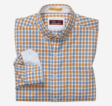 XC4® Two-Tone Gingham Stretch Shirt
