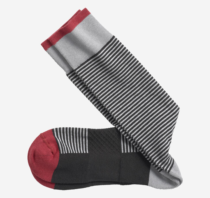 First in Comfort Mini-Stripe Socks