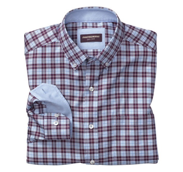 Square Framed Windowpane Shirt