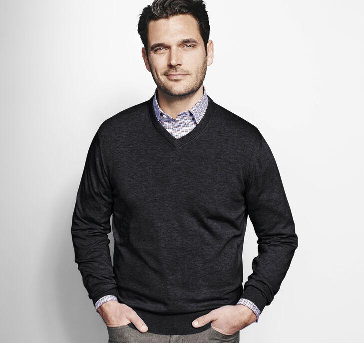 Pima Cotton V-Neck Sweater
