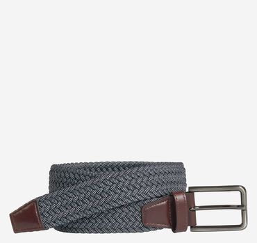 Woven Stretch-Knit Belt
