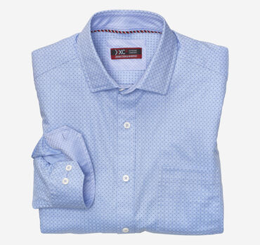 XC4 Mini Dot Print Point-Collar Shirt
