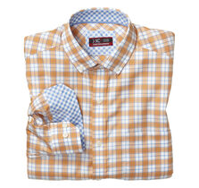 XC4® Overlay Windowpane Button-Collar Shirt
