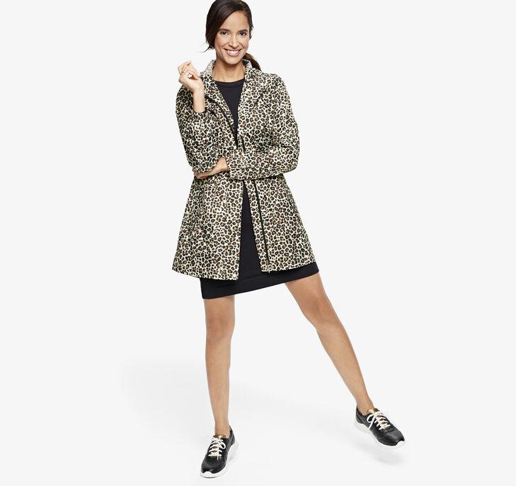 Packable Leopard Rain Jacket