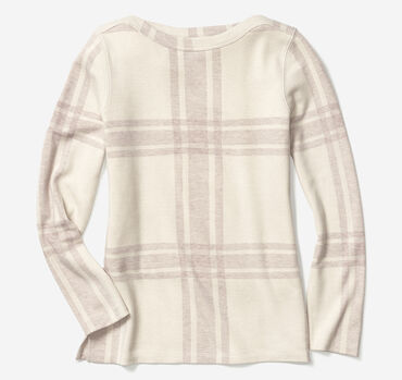 Plaid Boatneck Top