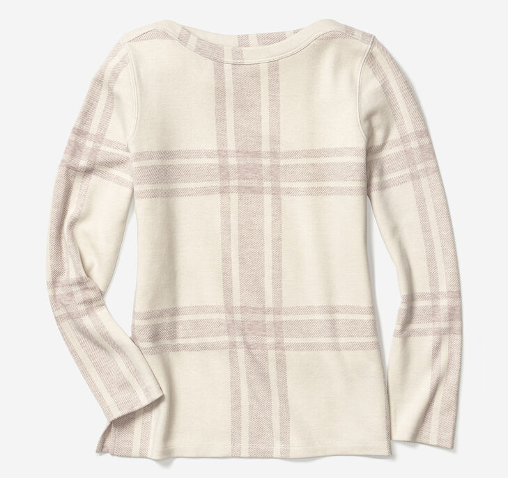 Plaid Boatneck Top preview