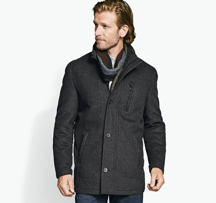 Mini-Pattern Wool Coat