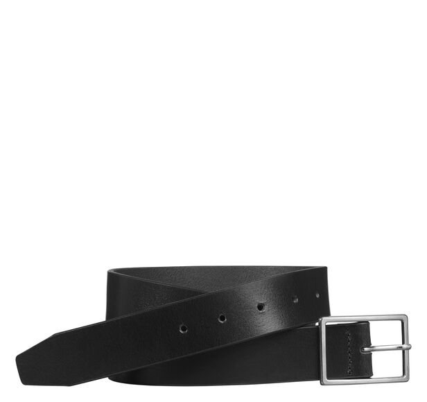 Polished-Nickel Buckle Belt