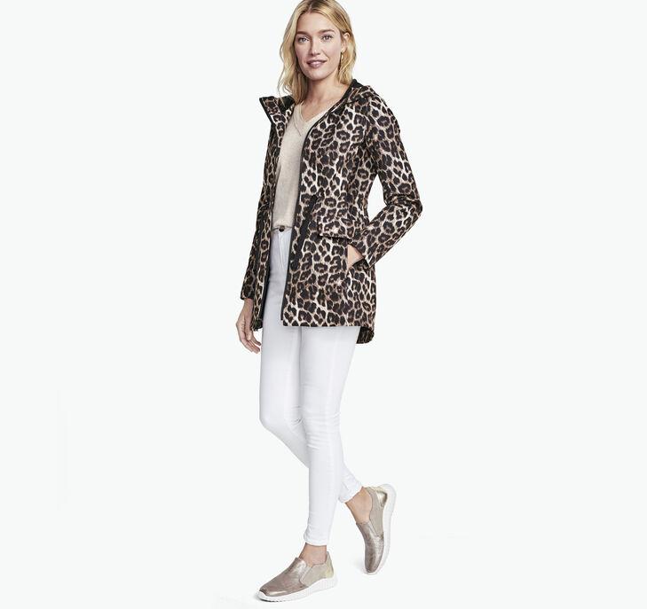 Animal-Print Soft Shell Jacket