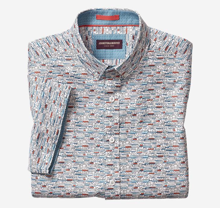 Steamboat Print Short-Sleeve Shirt