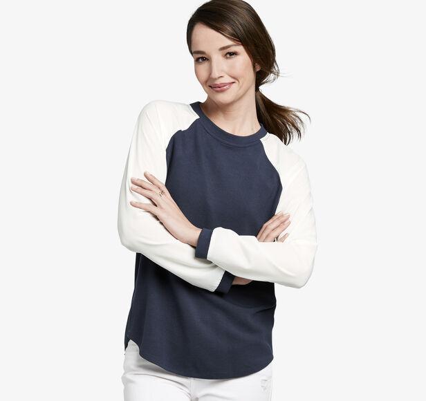 Colorblock Raglan-Sleeve Top