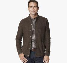 Mix Stitch Full Button Sweater