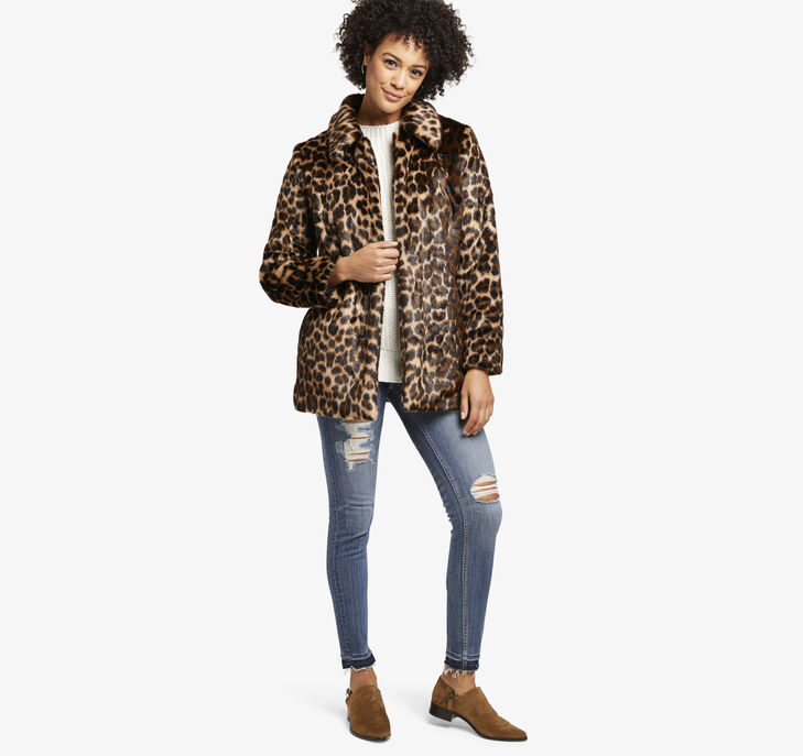 Leopard Faux-Fur Jacket