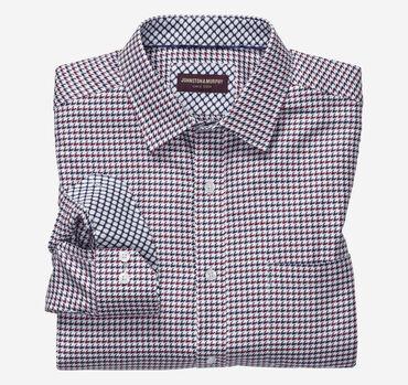 European Diagonal Grid Shirt