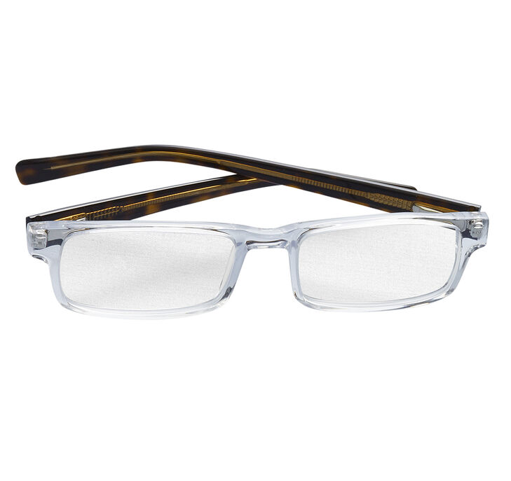 Clear & Tortoise Rectangular Readers