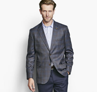 Multi Line Plaid Blazer