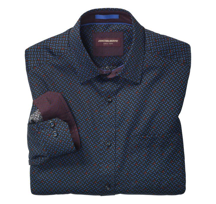 Geo Squares Print Shirt