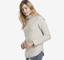 Diagonal Mockneck Sweater