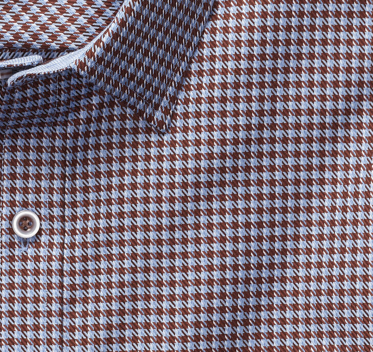 XC4® Houndstooth Check Point-Collar Shirt