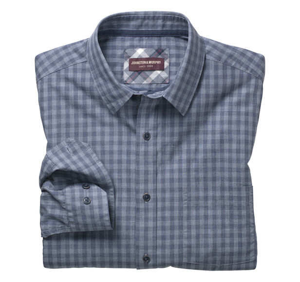 Tonal Heather Gingham Shirt