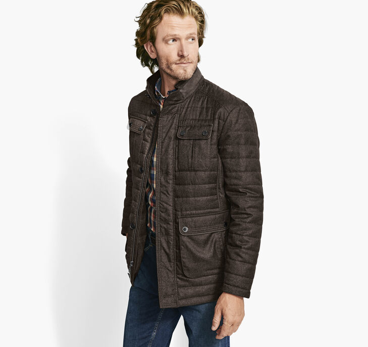Quilted Heathered Jacket