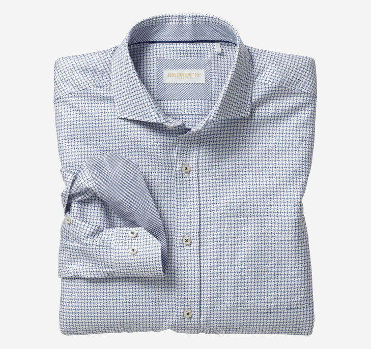 Italian Broken Square Check Dress Shirt
