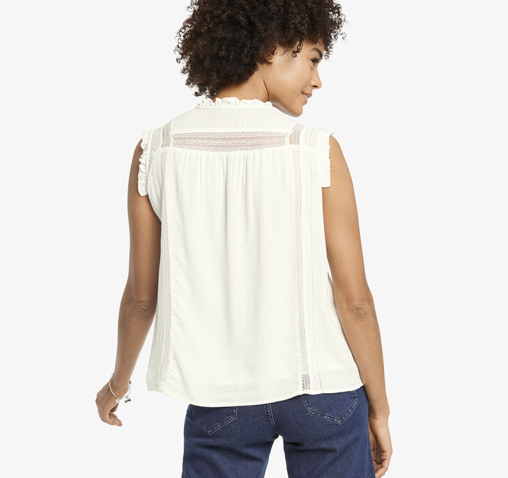 Sleeveless Peasant Top