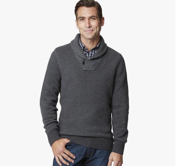 Shawl Collar Birdseye Sweater