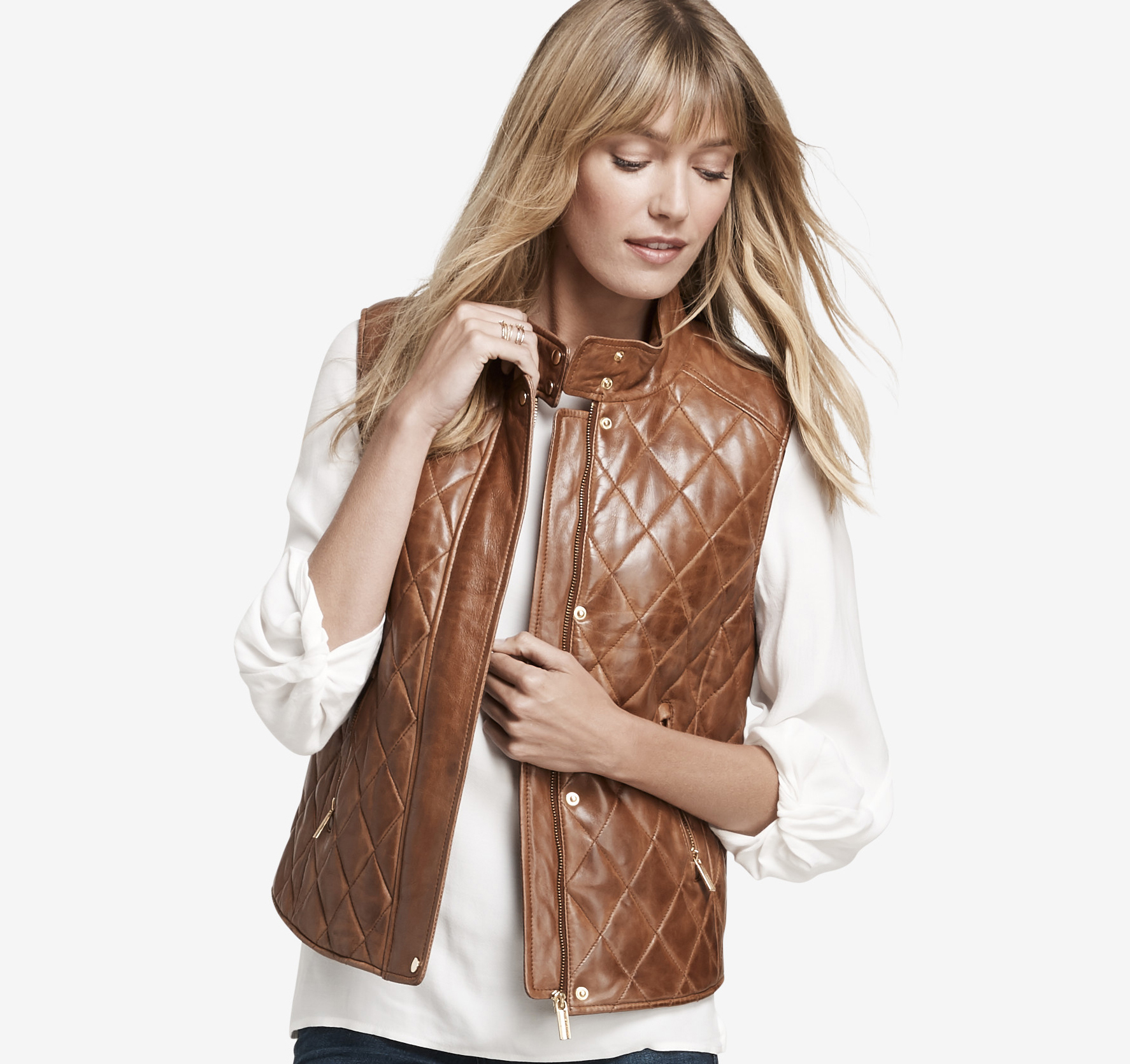 Quilted Leather Vest Johnston Amp Murphy