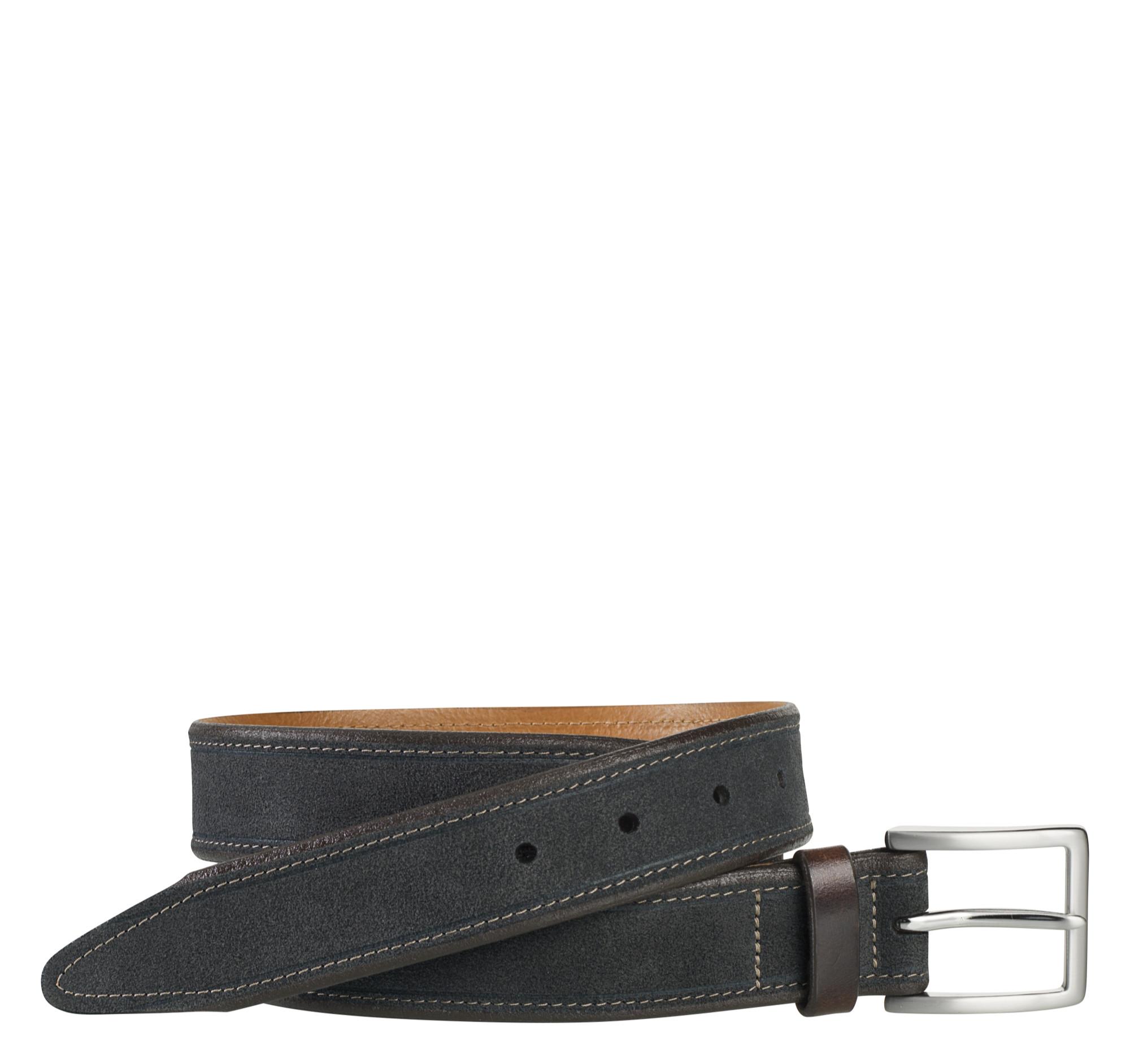 Johnston & Murphy Stitched Suede Belt