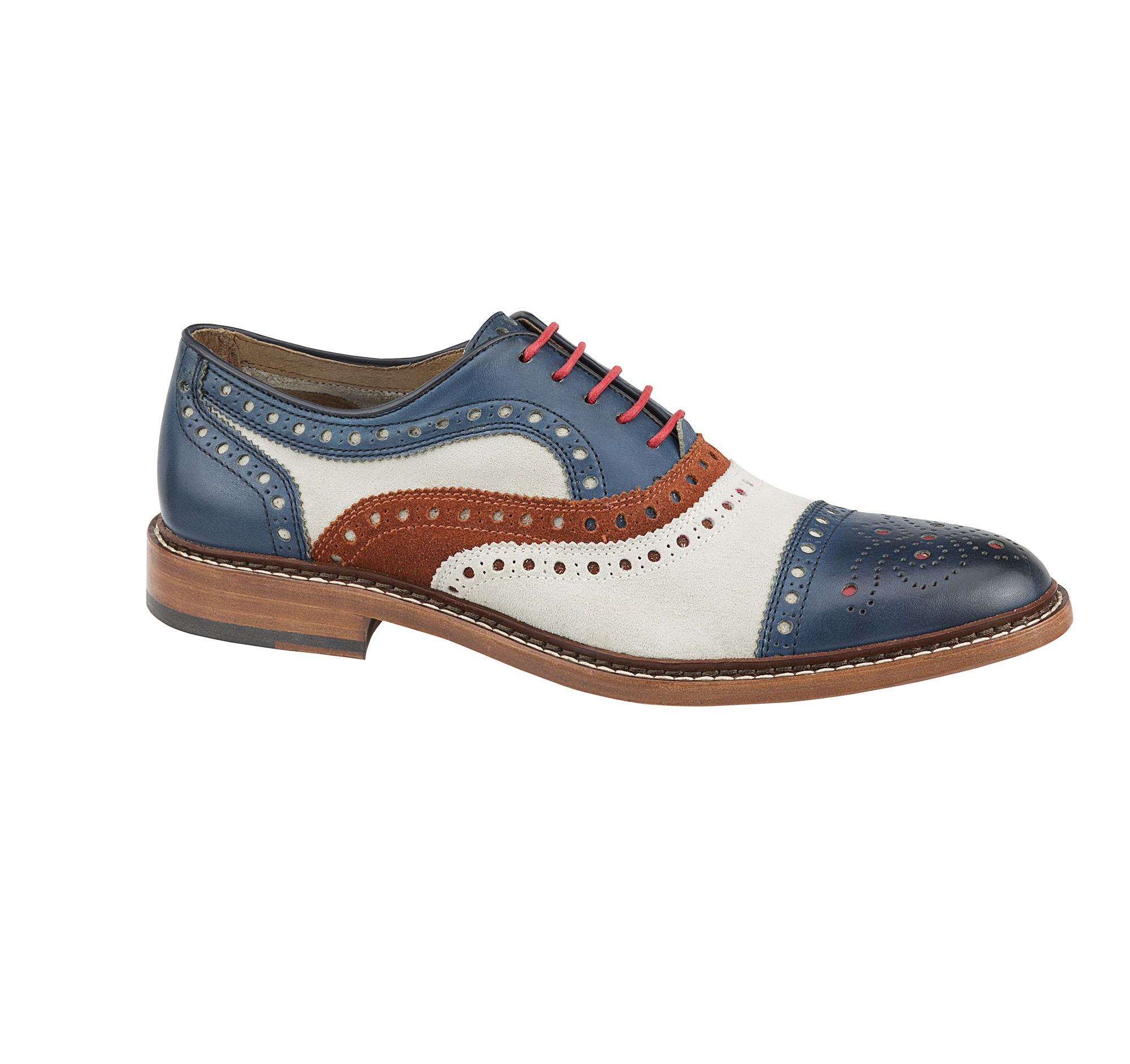 White Cap Toe Shoes