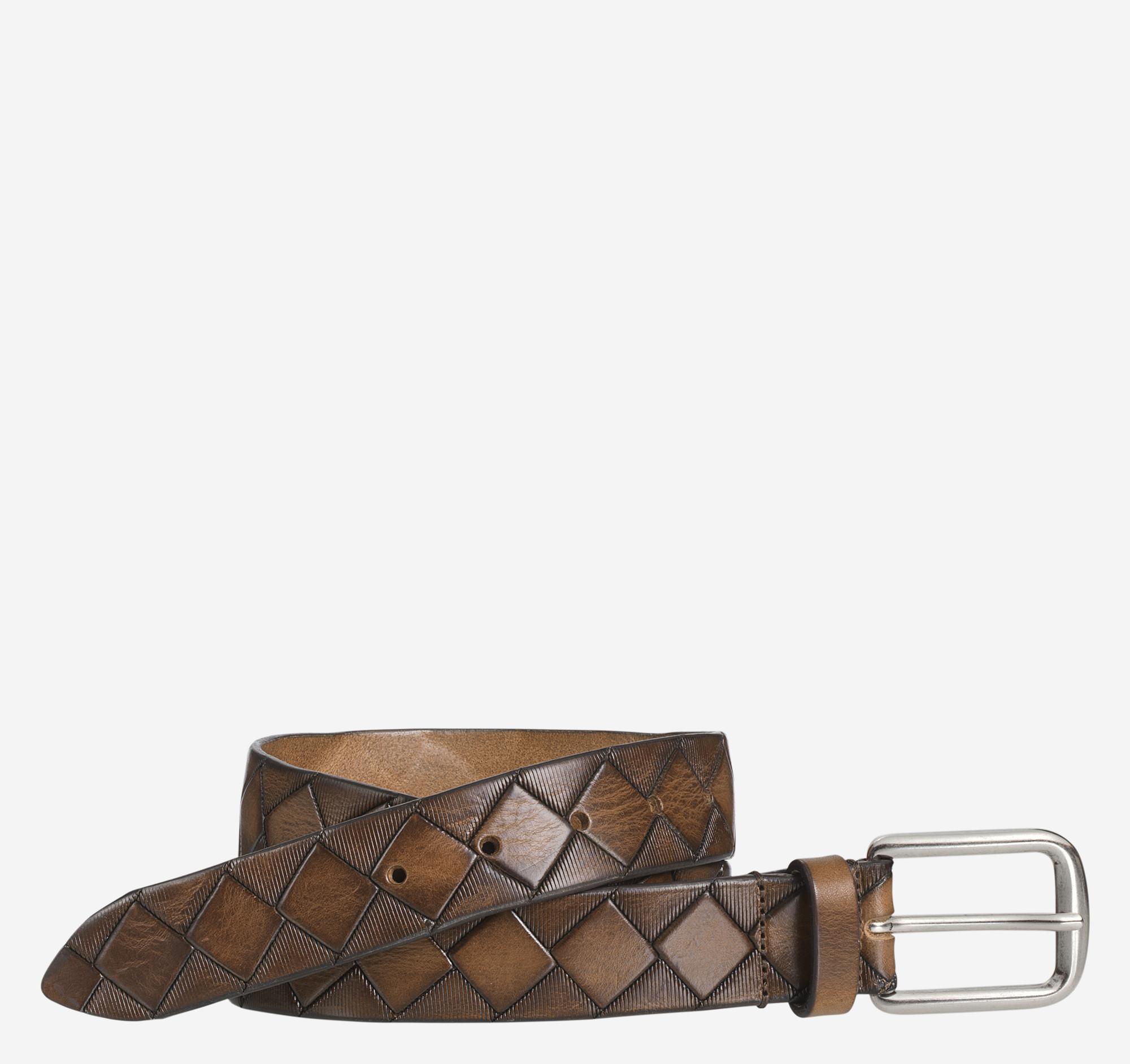 Johnston & Murphy Basketweave Belt