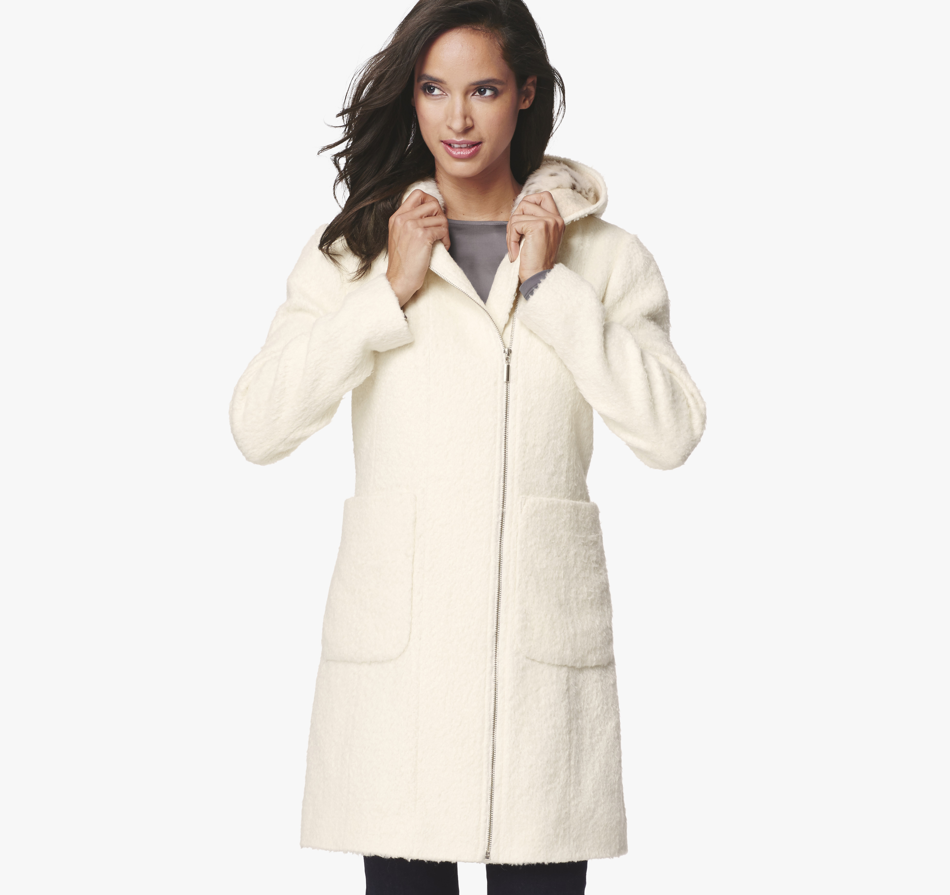 Faux Fur Hooded Coat | Johnston &amp Murphy