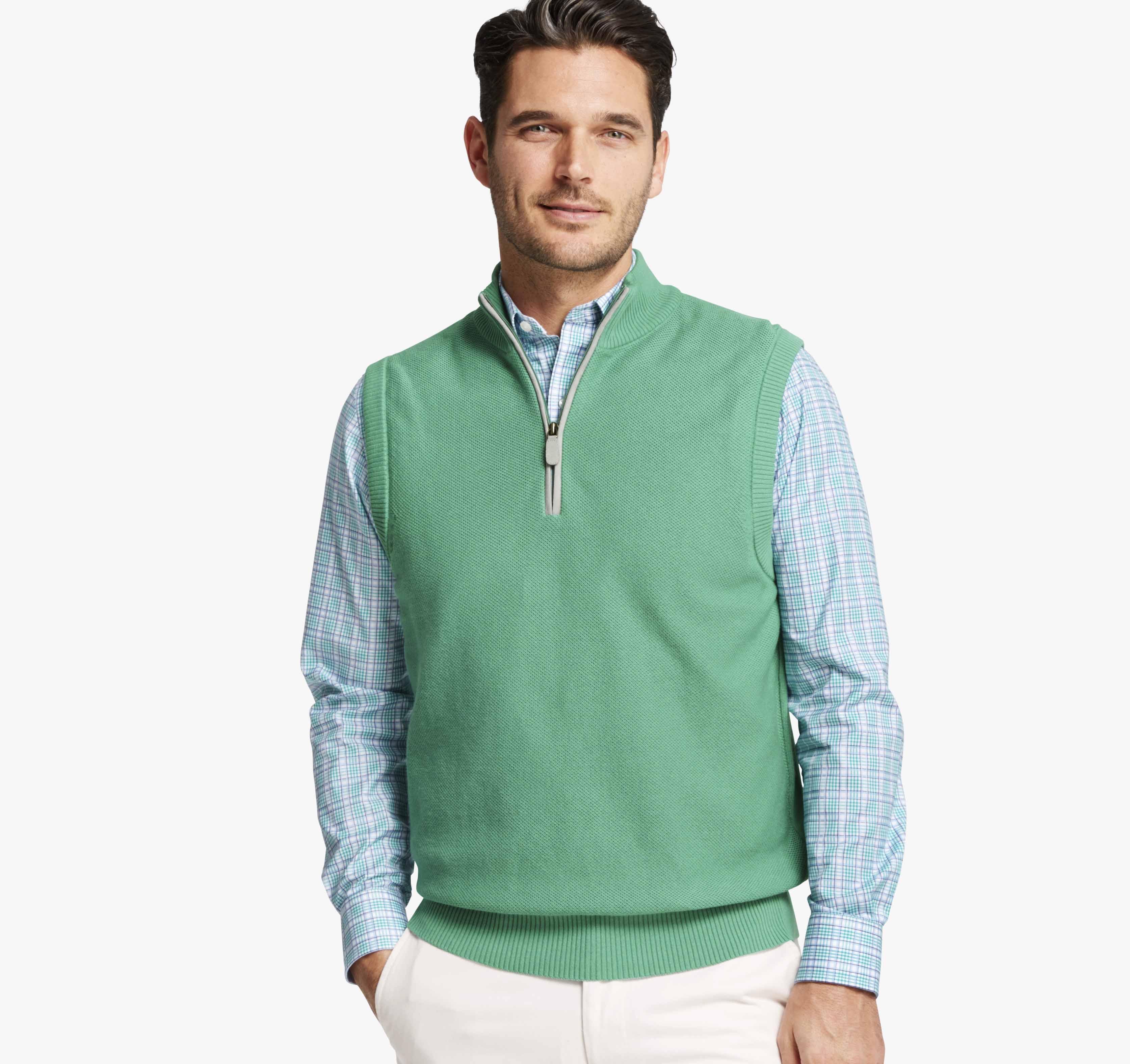 Quarter-Zip Sweater Vest | Johnston & Murphy