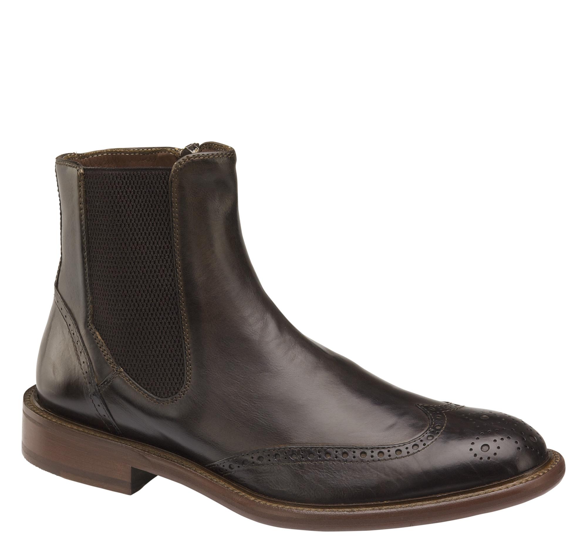 Johnston & Murphy Bryson Wingtip Zip Boot