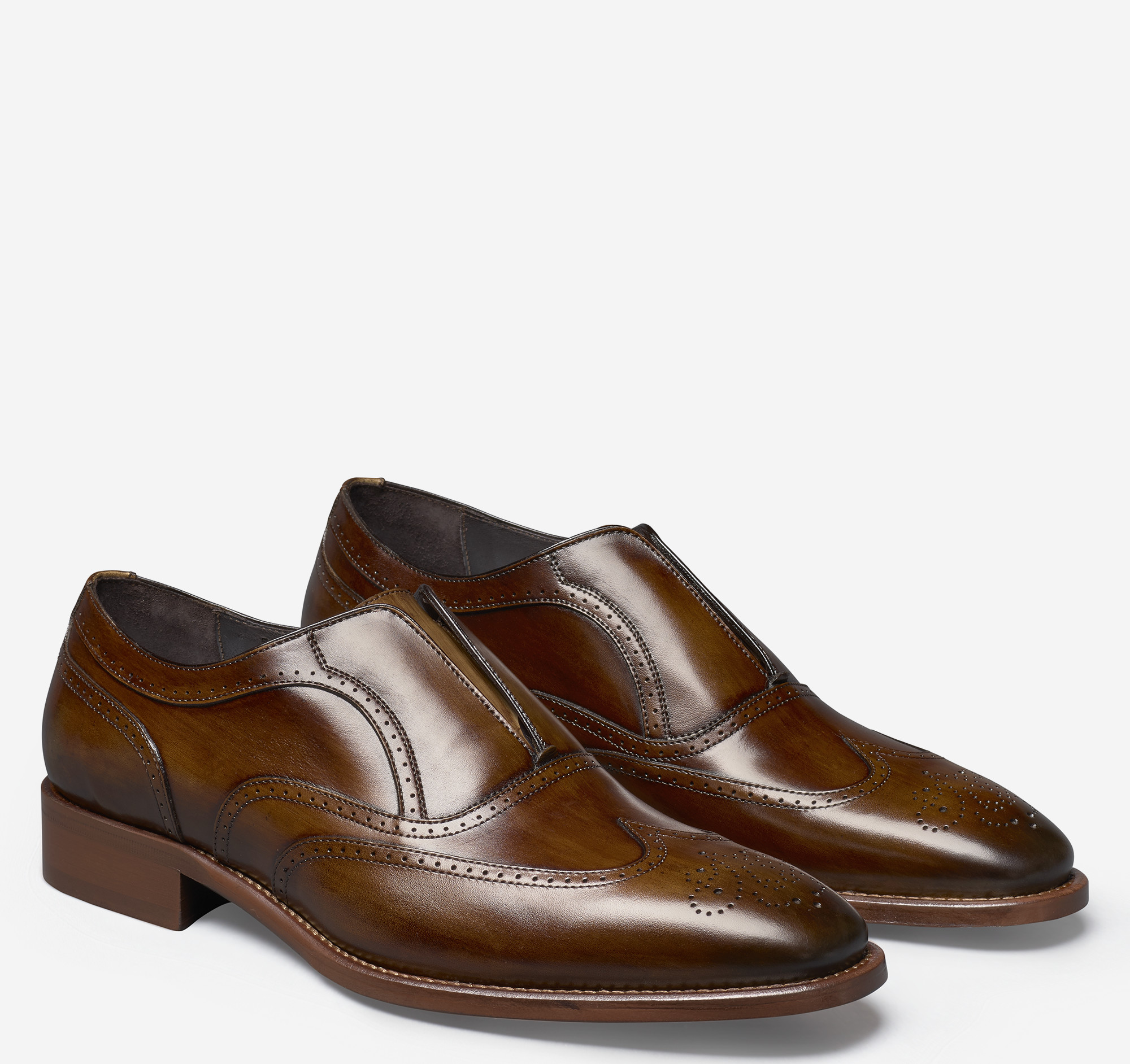 Cormac Wingtip Slip On Johnston Murphy D Island Shoes Casual England Suede Brown Magiczoom Window