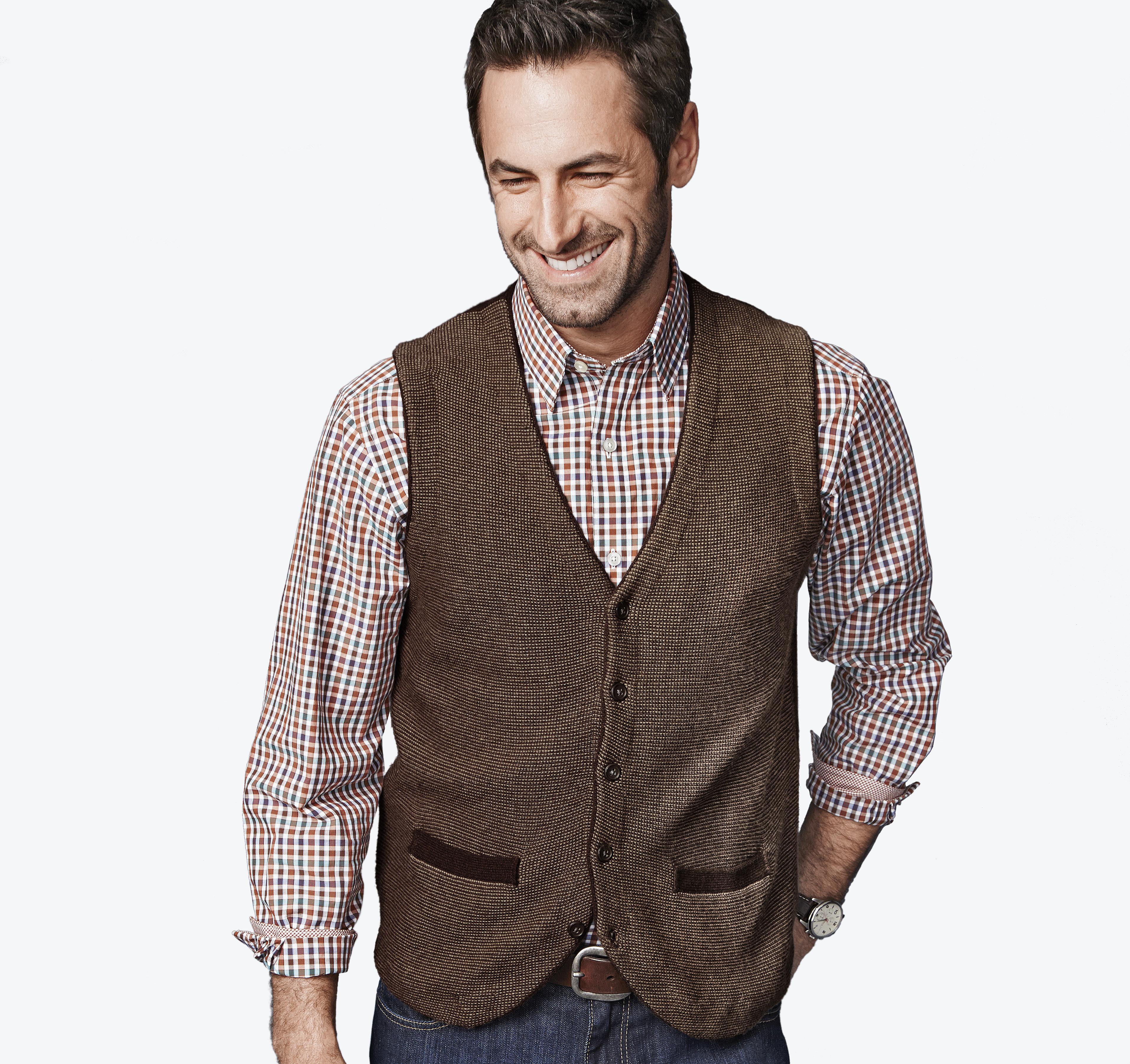 Button-Front Sweater Vest | Johnston & Murphy
