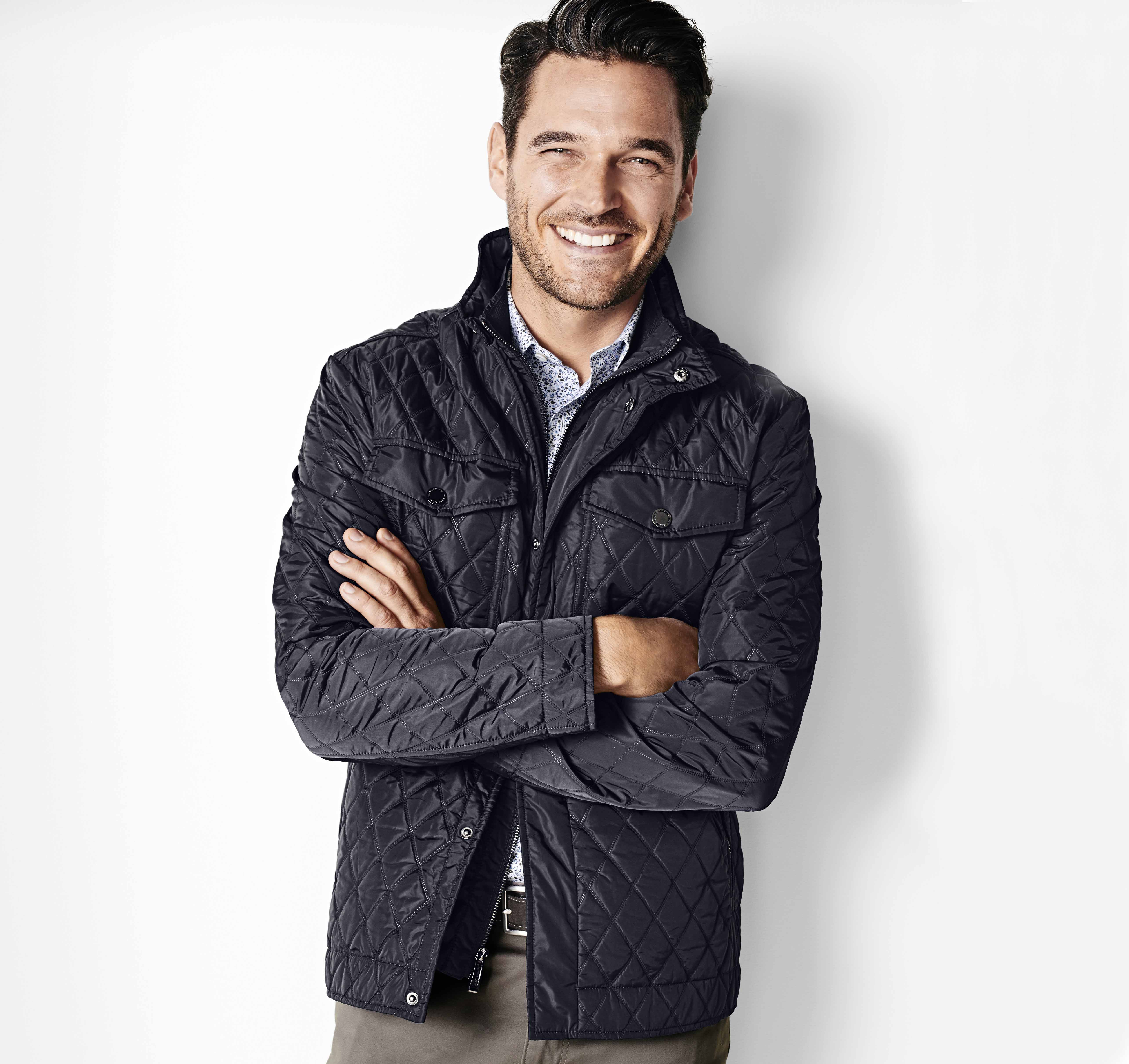 clothing quilted lauren lyst ralph s product olive trim blue jacket gallery women quilt normal suede polo in navy aviator coat litchfield