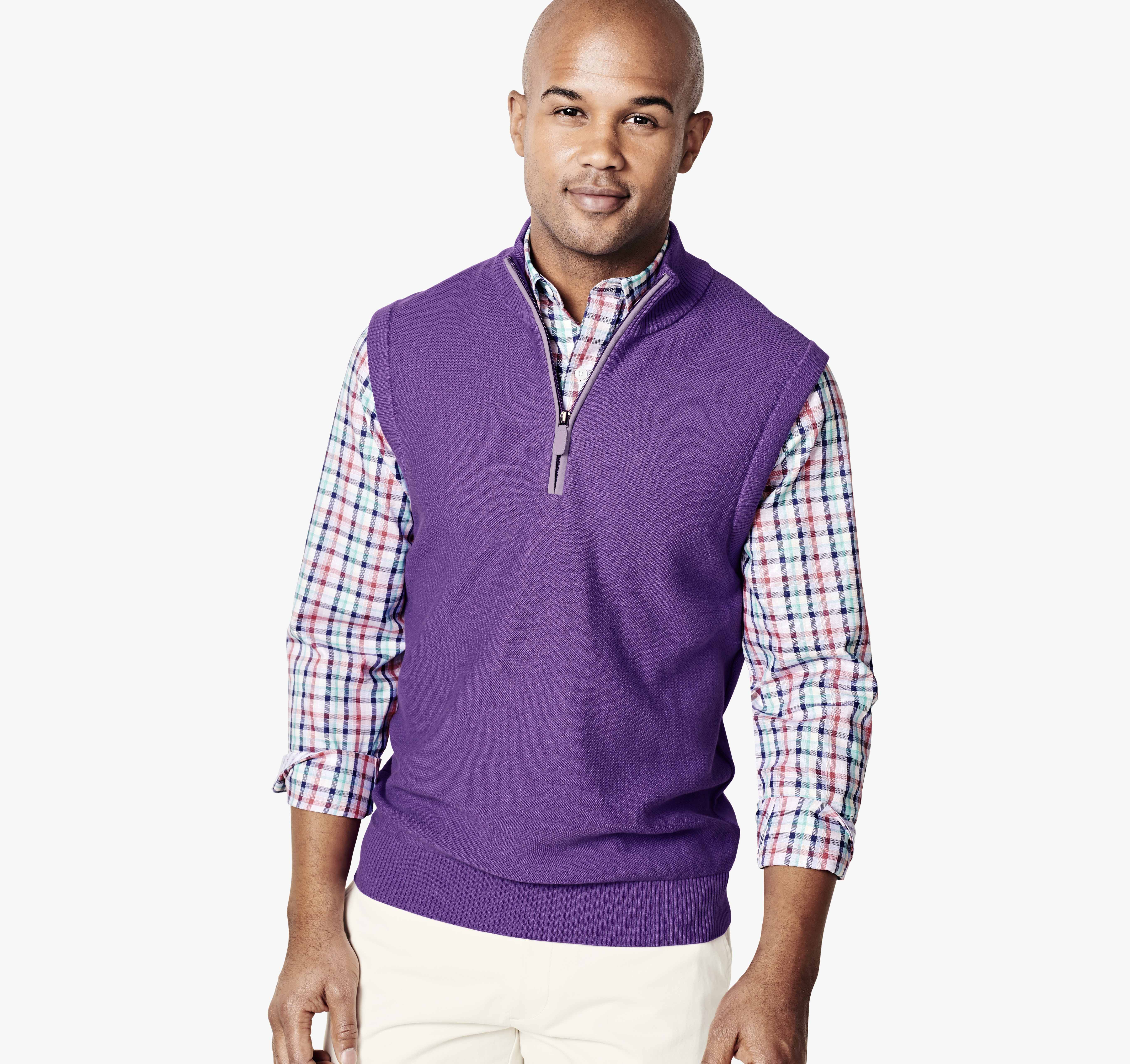 Quarter-Zip Sweater Vest | Johnston & Murphy