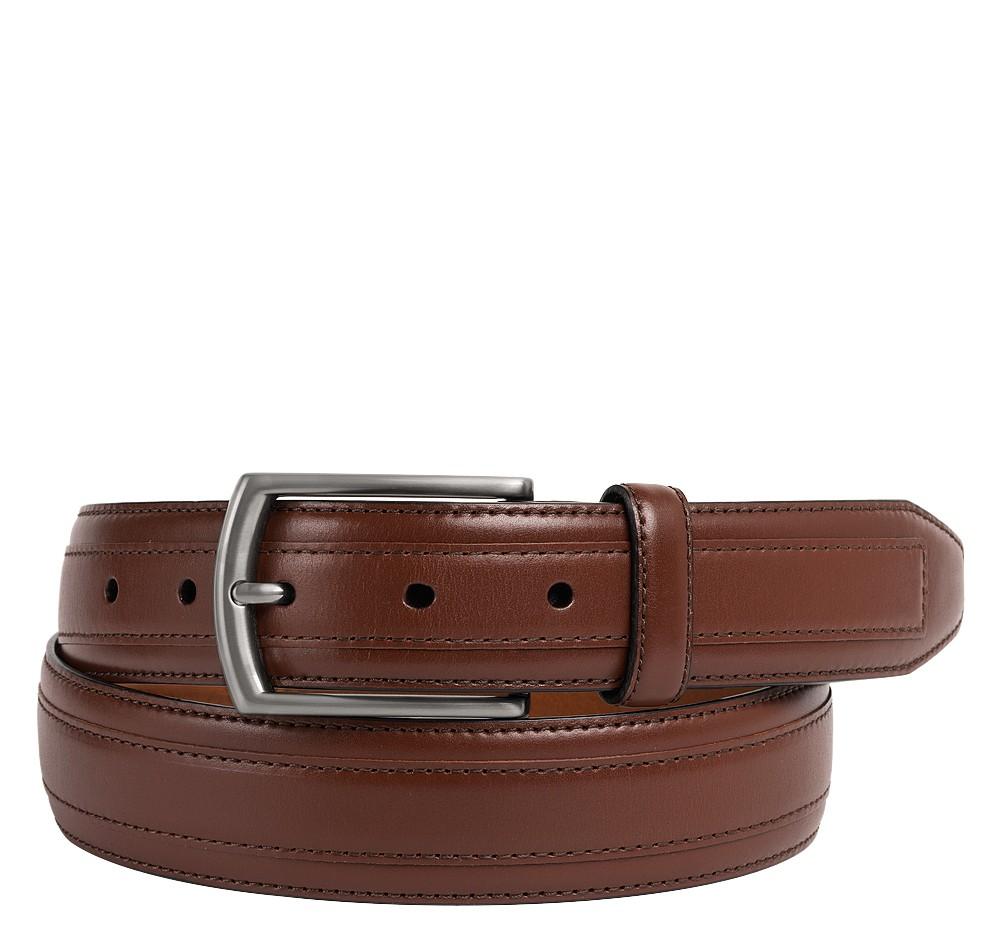 Johnston & Murphy Leather Overlay Belt