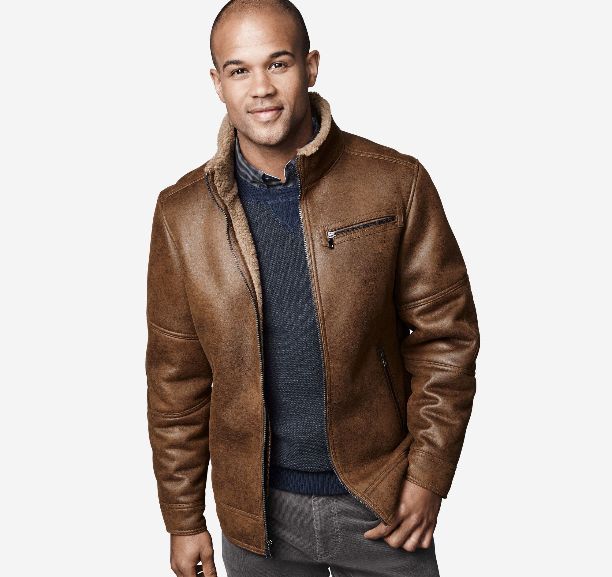 Faux-Shearling Jacket | Johnston & Murphy