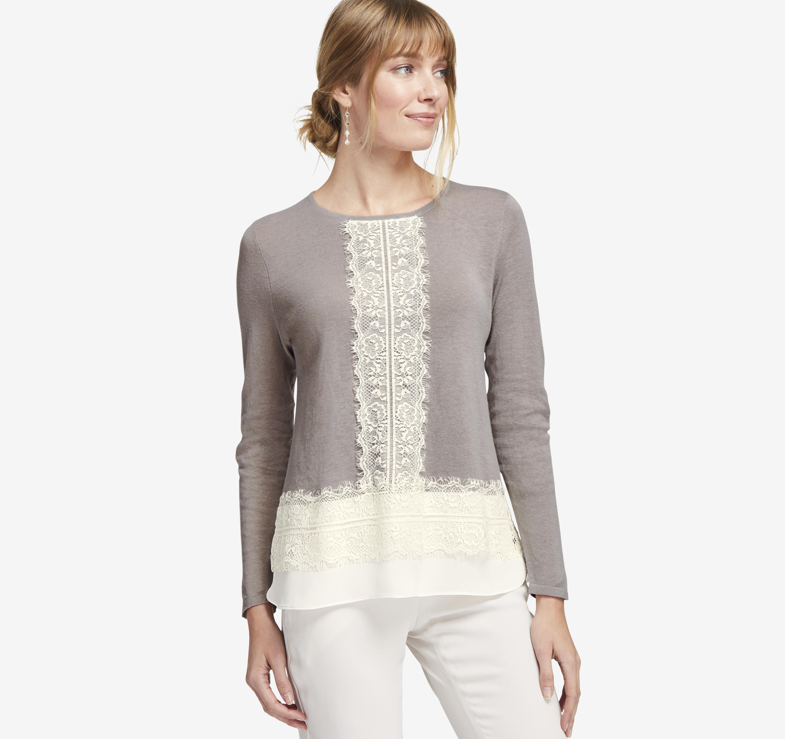 Johnston & Murphy Mixed-Media Sweater