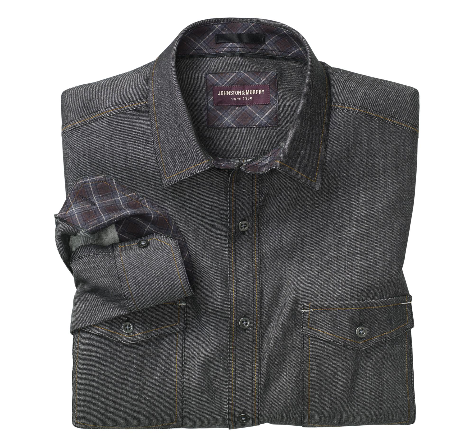 Double Pocket Denim Shirt Johnston Murphy