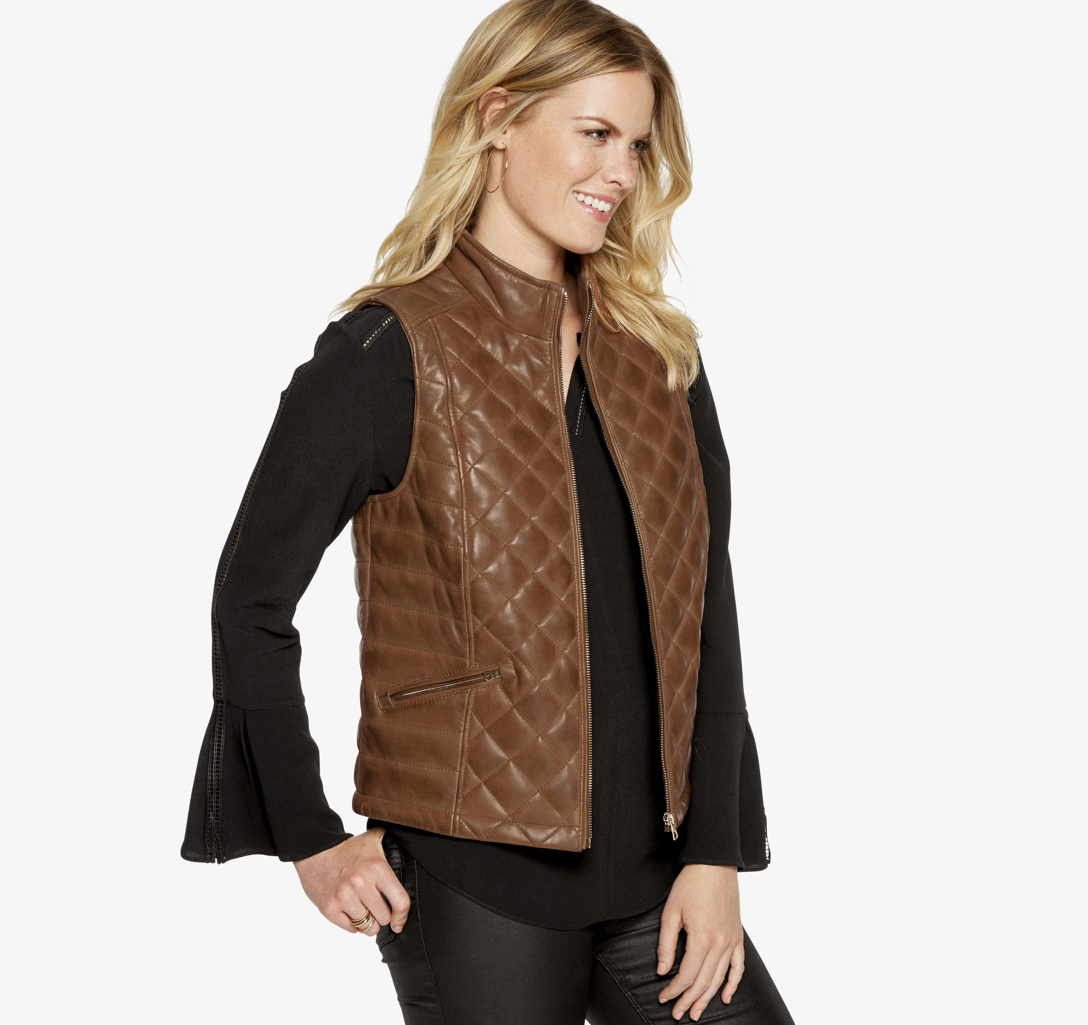 16ee0e6a9 Quilted Leather Vest | Johnston & Murphy
