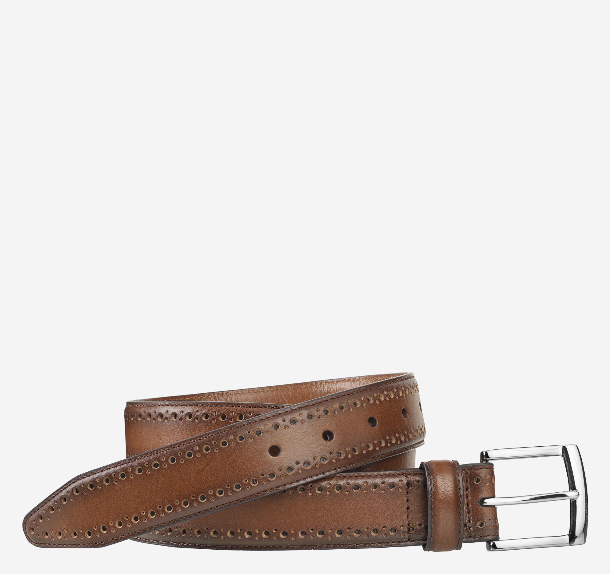 Johnston & Murphy Perfed-Edge Belt