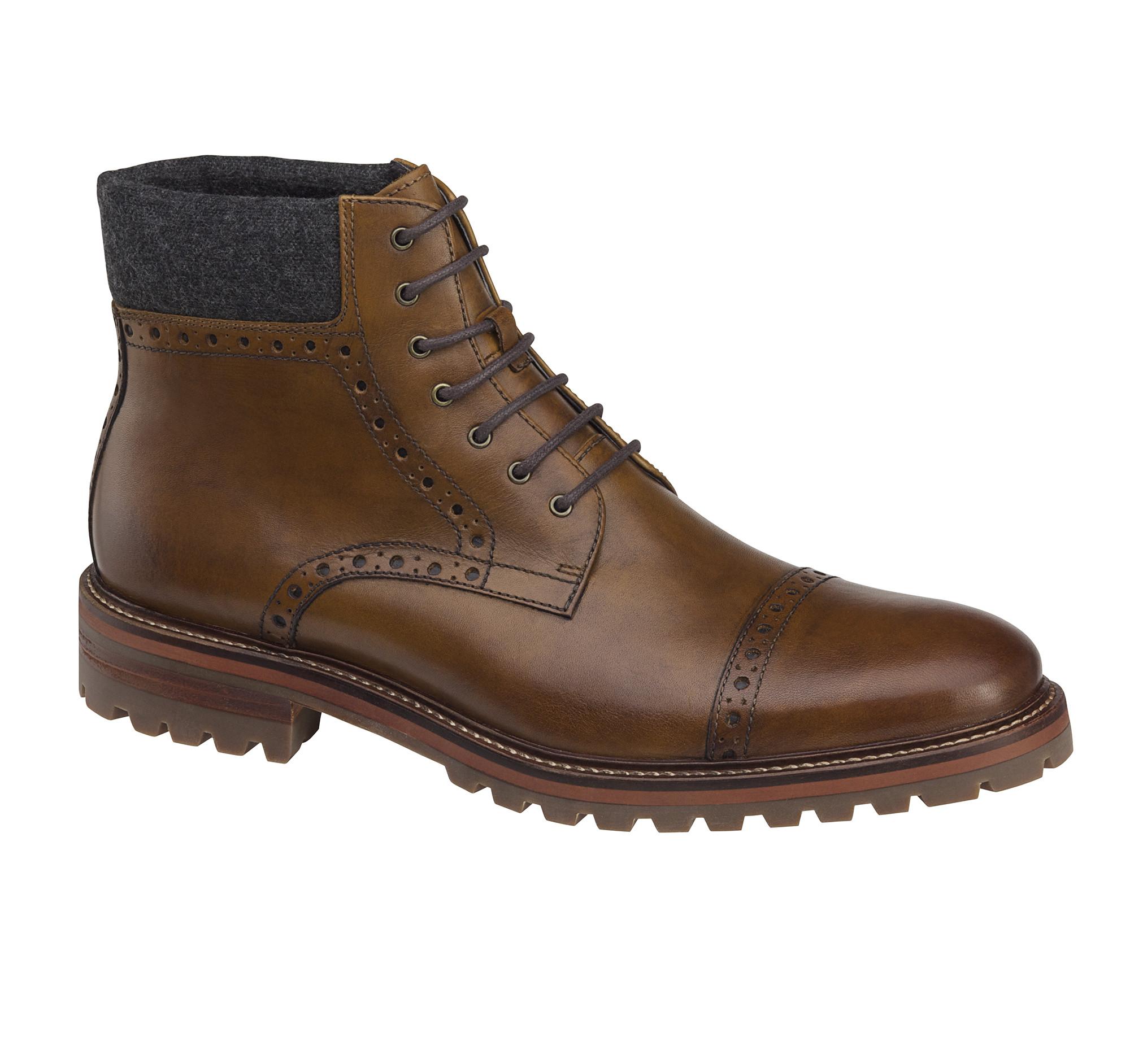 karnes cap toe boot johnston murphy