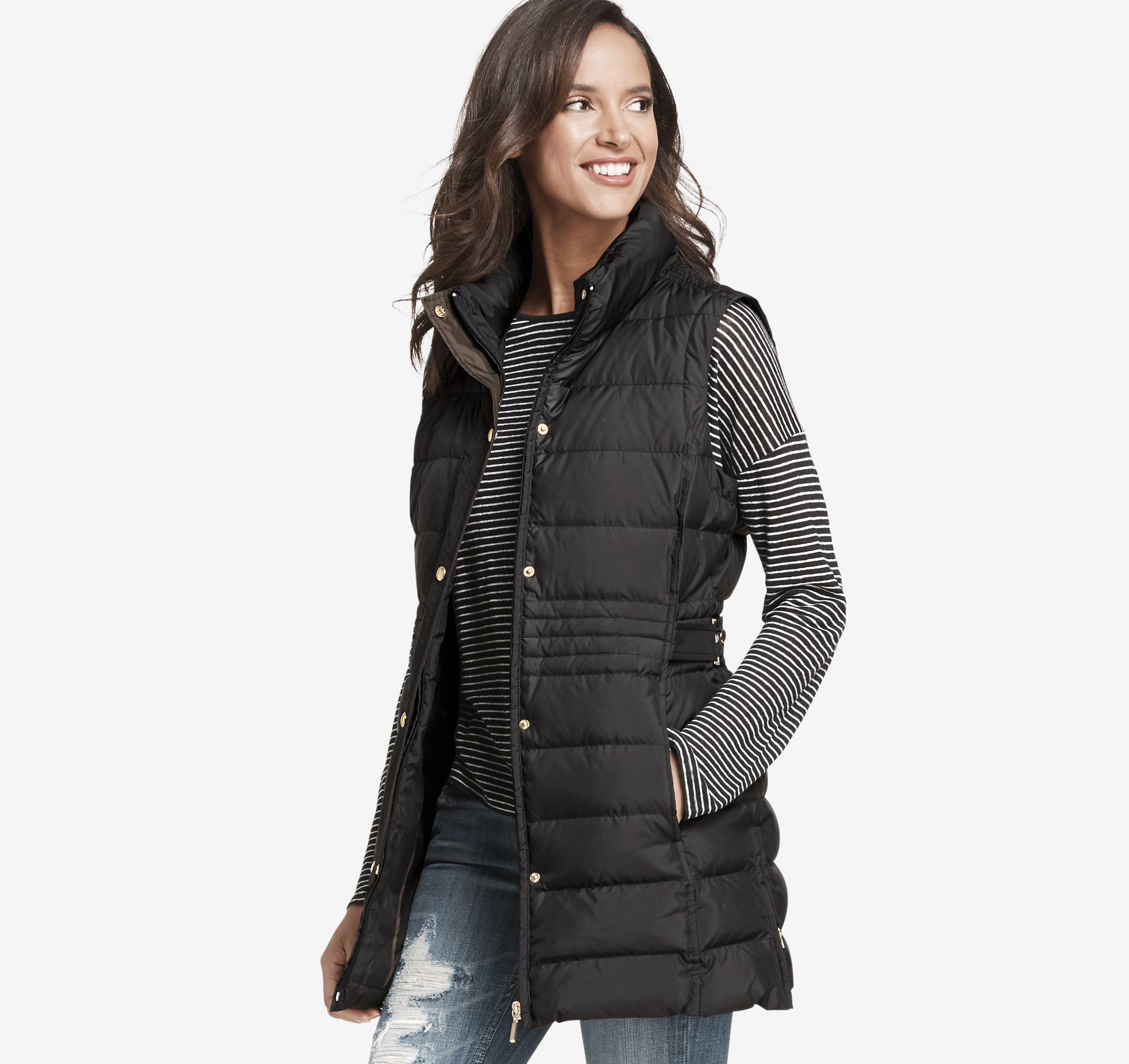 Long Quilted Vest | Johnston & Murphy