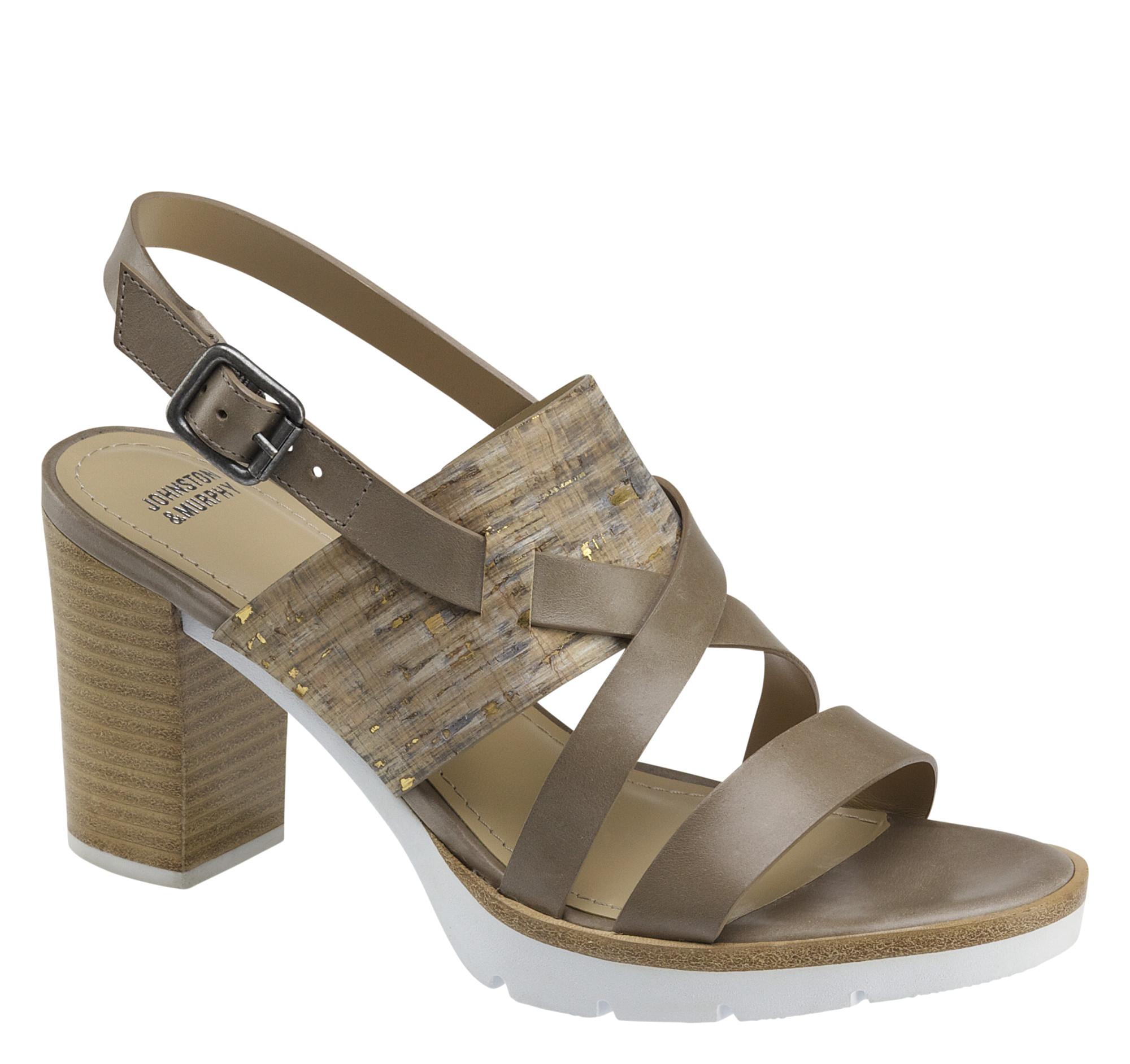 Johnston & Murphy Kayla Cross-Strap Sandal